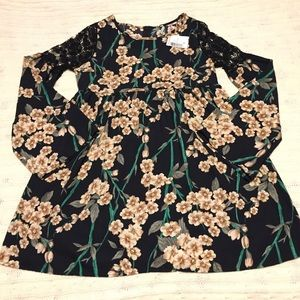 NWT LoveCulture Black Floral Peasant Dress